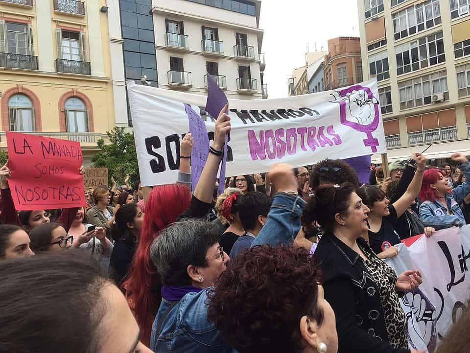 Protestas en las calles de Málaga por la sentencia en el Caso La Manada
