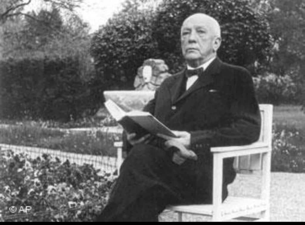 Strauss en su casa de Garmisch-Partenkirchen en el año 1938
