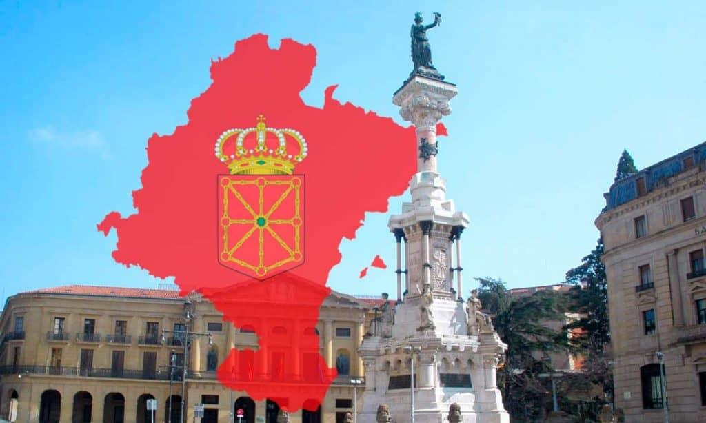Imagen representación de Pamplona monumento a los Fueros Navarros